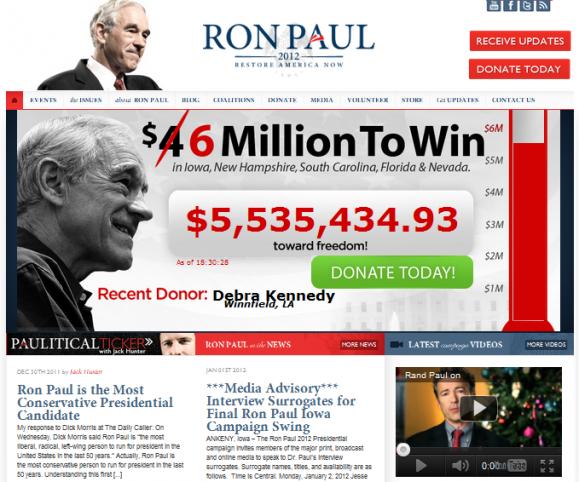 Strona Rona Paula działa na WordPressie