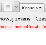 Uncaught exception: no such method rotate for tabs widget instance